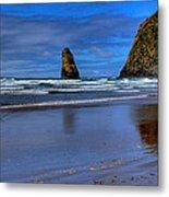 Haystack Rock And The Needles II Metal Print