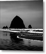 Haystack Rock On Cannon Beach Metal Print by David Patterson