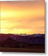 Haystack Rocky Mountain Front Range Sunset Panorama Metal Print