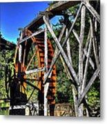 Haywood Cc Grist Mill Wheel Metal Print