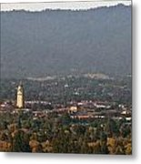 Hazy Autumn Day At Stanford University Metal Print