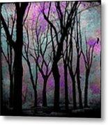 Hazy Purple Metal Print