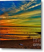 hd 329 Surfboard In The Sand-edted version Metal Print