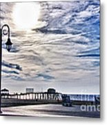 Hdr Beachtown Beach Ocean Sand Pier Sunrise Clouds Relaxation Photography Photos Sale Gallery Buy  Metal Print by Pictures HDR