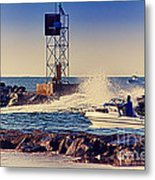 Hdr Boat Boats Fishing Ocean Beach Scenic Landscape Photos Pictures Photography Bay Buy Sell Photo  Metal Print