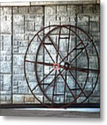 Hdr Industrial Cable Spindle Metal Print