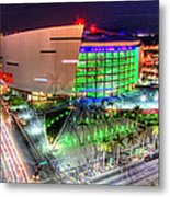 Hdr Of American Airlines Arena Metal Print