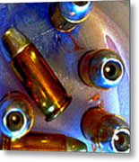 Bullet Art - Hdr Photography Of .32 Caliber Hollow Point Bullets Art 4 Metal Print