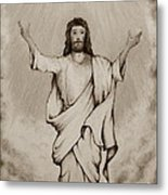 He Is Risen Metal Print by Catherine Howley
