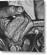 He Sold Coins And This Ring Metal Print