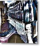 He Staggered Through The Streets Trying To Find His High Heel Boots Metal Print