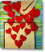 He Writes His Word On Our Heart Metal Print