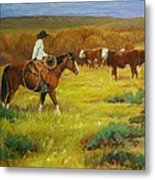 Head For The Willows Metal Print