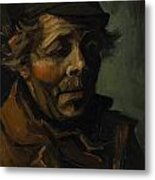Head Of A Peasant With Cap Metal Print