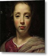 Head Of A Young Girl Metal Print