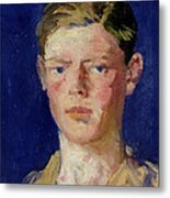 Head Of A Young Man Metal Print by Francis Campbell Boileau Cadell