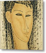 Head Of A Young Women Metal Print