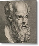 Head Of Socrates Metal Print by Anonymous
