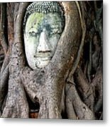 Head Of The Sandstone Buddha Metal Print