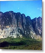 Head Wall Of Mount Roriama Metal Print by Steven Valkenberg