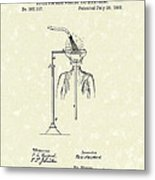 Head Washer 1887 Patent Art Metal Print