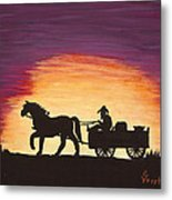 Heading Home Metal Print