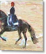 Heading Into The Ring Metal Print