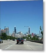 Heading North On Lake Shore Drive In Chicago Metal Print