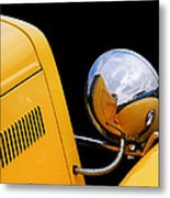 Headlight Reflections In A 32 Ford Deuce Coupe Metal Print
