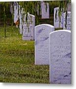 Headstones Of Arlington Cemetery Metal Print