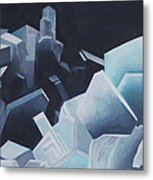 Healing Blue Crystals Metal Print