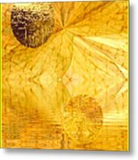 Healing In Golden World Metal Print