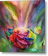 Healing Rose Metal Print by Carol Cavalaris