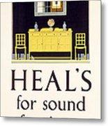 Heals Sound Furniture Advertisement Metal Print
