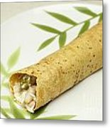 Healthy Burrito On A Plate Metal Print