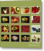 Healthy International Fruits Collection Metal Print
