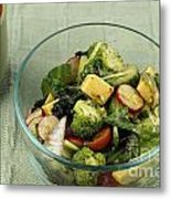 Healthy Mixed Salad Metal Print