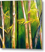 Hear The Bamboo Metal Print