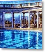 Hearst Castle Pool Metal Print