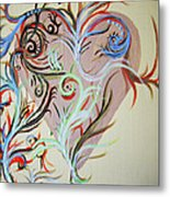 Heart # 124   Prints Available But Original Sold Metal Print