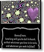 Heart And Love Design 14 With Bible Quote Metal Print
