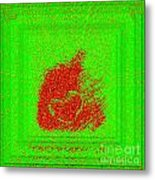Heart And Pepper Metal Print