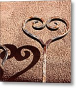 Heart And Shadow Metal Print