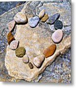 Heart And Stones  Metal Print