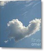 Heart Cloud Sedona Metal Print