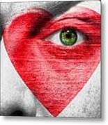 Heart Face Metal Print