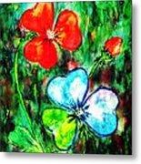 Heart Flowers Metal Print