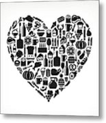 Heart Food & Drink Royalty Free Vector Metal Print