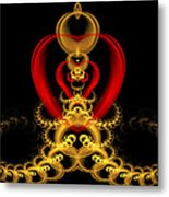 Heart In Chains Metal Print by Sandy Keeton