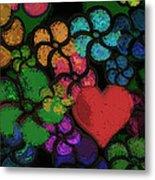 Heart In Flowers Metal Print